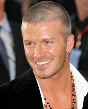 David Beckham Buzz cut