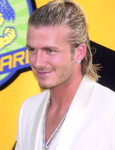 David Beckham long  hairstyles
