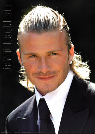 David Beckham long ponytail hairstyles