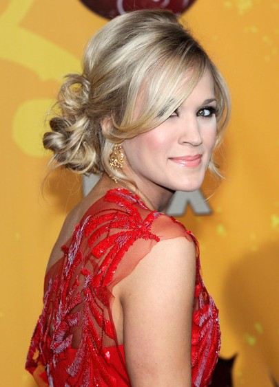 Carrie Underwood Loose Bun hairstyle