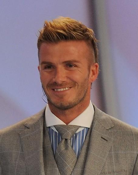 David Beckham  Fauxhawk hair style