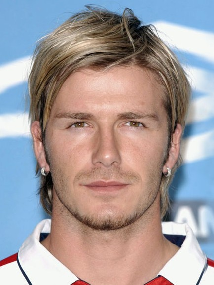 David Beckham medium hairstyle