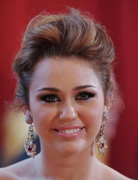 Miley Cyrus Messy Updo hairstyle