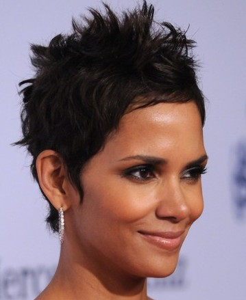 Super Short Haircuts Black Women Spiky For