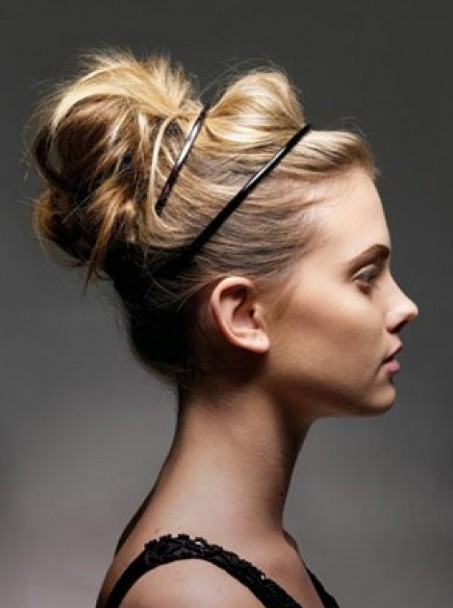 High Loose Bun Hairstyle