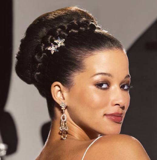 Hairstyles For Weddings Bridesmaid African American: Classy Simple Feminine Updo For Women: The Bun Hairstyles