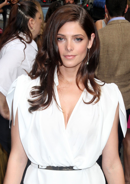 2012 Long Wavy Haircut with Side Bangs Hair for Women from Ashley Greene