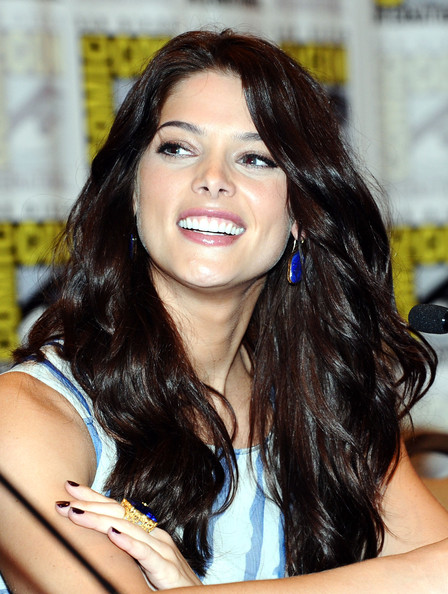 Beauty Long Wavy Haircut with Side Bangs Hair for Women from Ashley Greene