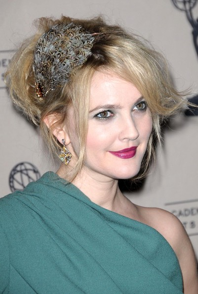 Drew Barrymore updo for wedding