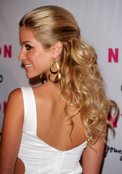 Kristin Cavallari long hairstyle for wedding