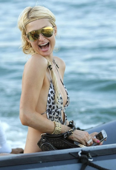 Beauty Indiana Hairstyle from Paris Hilton at Beach Club