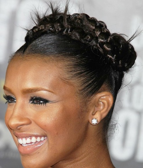 Black Braid Hairstyle African American