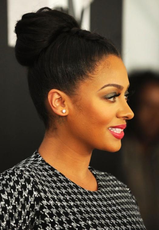 Pleasant African American Braided Bun Updo Hairstyles Weekly Hairstyles For Women Draintrainus