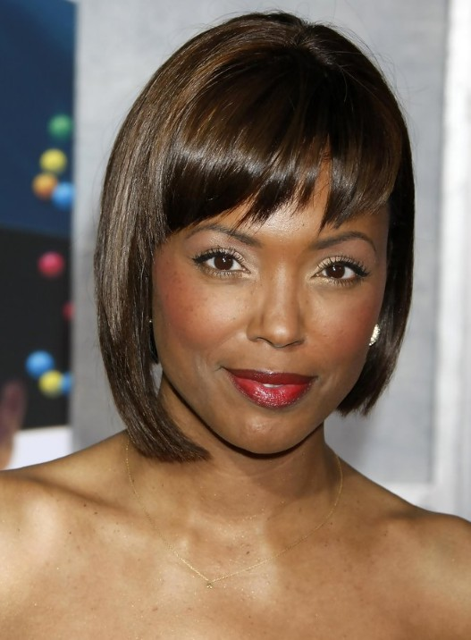 Aisha Tyler Short Sleek Hairstyle