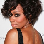 2013 Short Curly Bob Hairstyle for Black Women