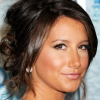 Ashley Tisdale Loose Twisted Bun