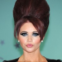 Amy Childs Big Beehive Updo