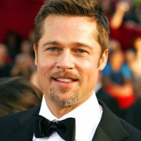 Brad Pitt faux hawk hairstyle