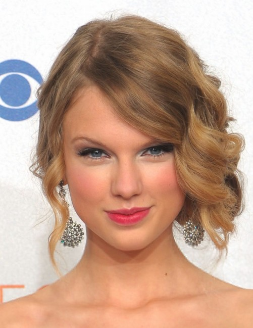 Celebrity Side Swept Curly Updos Hairstyles Weekly