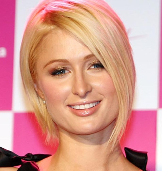 Paris Hilton Elegant Blonde Inverted Bob Hairstyles Weekly
