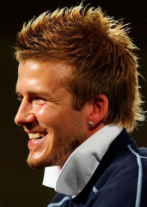 David Beckham Hairstyle The Fauxhawk