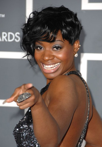 Fantasia Barrino Dark Curly Hairstyle