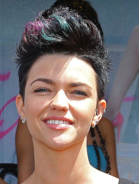 2013 Faux Hawk Haircut for Women