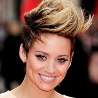 Medium Length Faux Hawk Hairstyle for Women