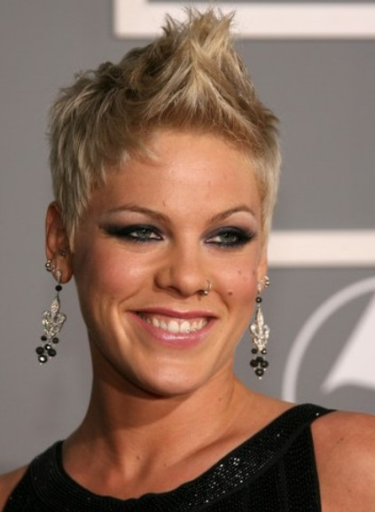 Best Celebrities Faux Hawk Short Haircuts Short