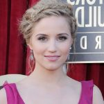 Dianna Agron Fishbone Braided Updo