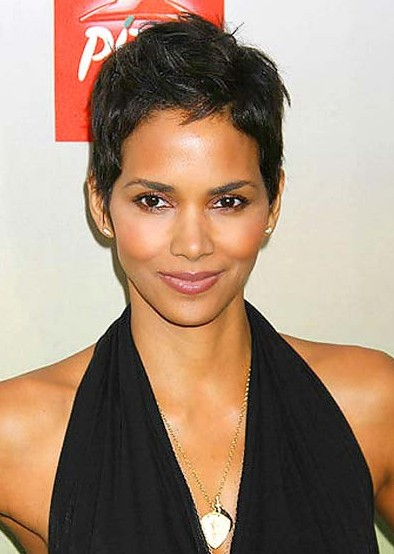 Halle Berry Short Dark Haircut 2013