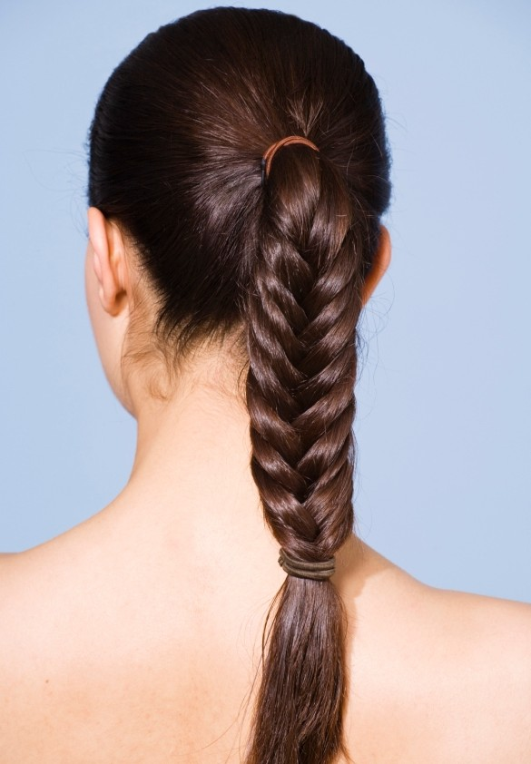 Herringbone braid hairstyle