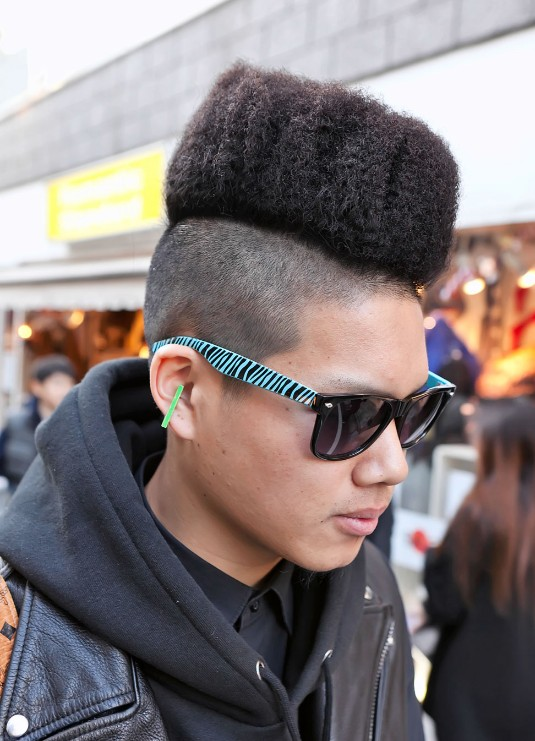 spotted him was – obviously – his awesome hi-top fade hairstyle