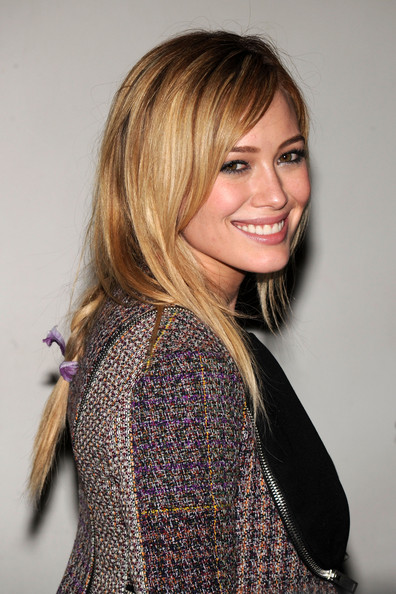hilary duff cute medium braided hairstyle - hairstyles weekly