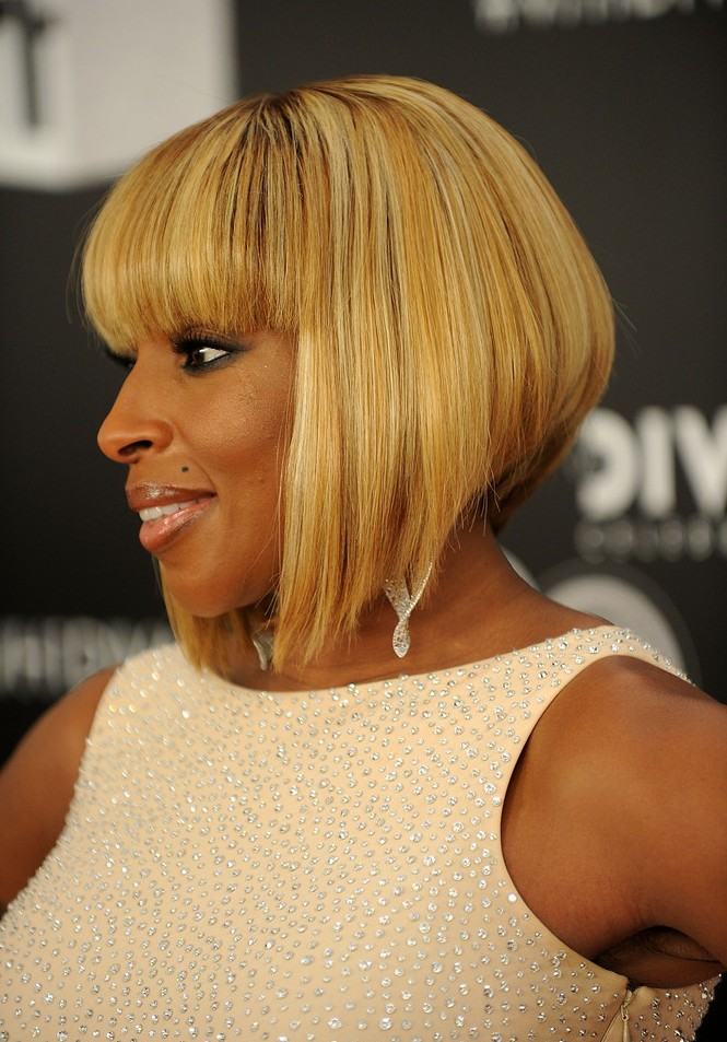 African American Inverted Bob Hairstyles