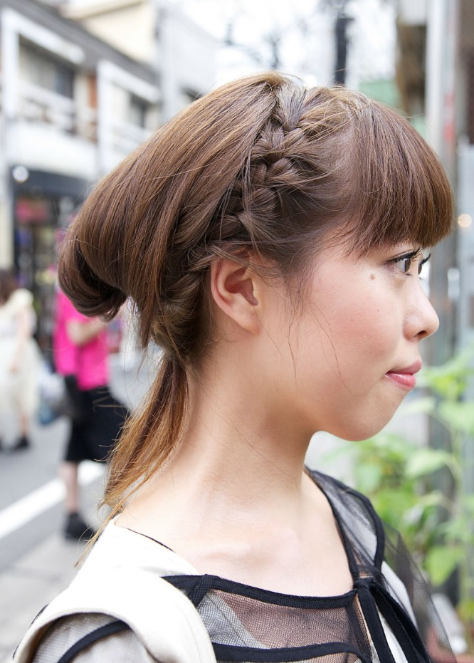 japanese hairstyles male : Japanese Girls Braided Hairstyle - Hairstyles Weekly