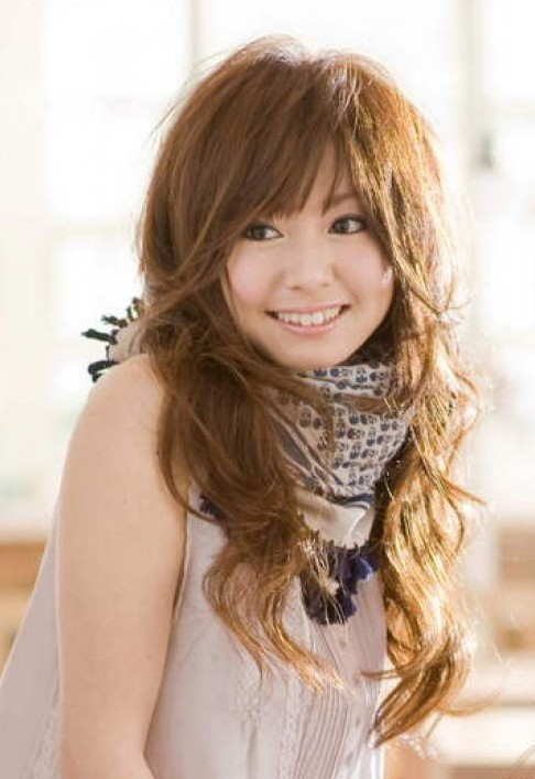 Japanese Long Wavy Hairstyle