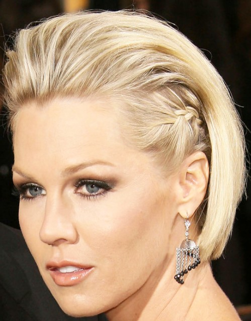 Jennie Garth Sleek Fauxhawk Hairstyle