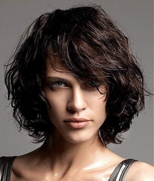 Stupendous Naturally Curly Hair Bob Cut Hairstyle Inspiration Daily Dogsangcom