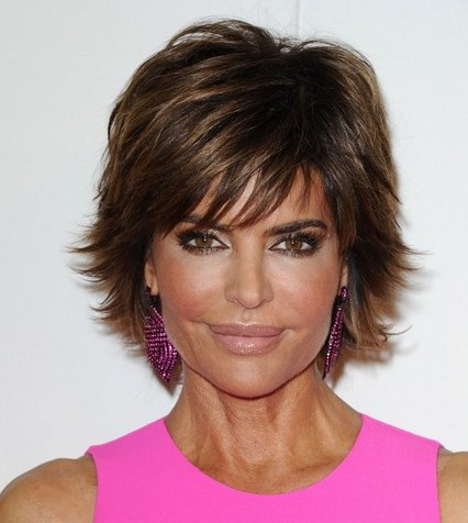 Lisa Rinna Layered Razor Haircut