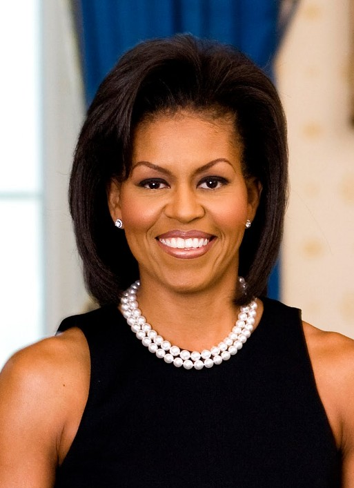 micro braid updo hairstyles : Michelle Obama Hairstyle