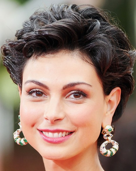 Morena Baccarin Short Curly Hairstyle Hairstyles Weekly
