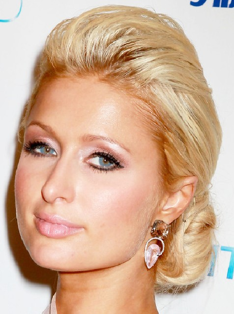 Paris Hilton Chignon Hairstyle