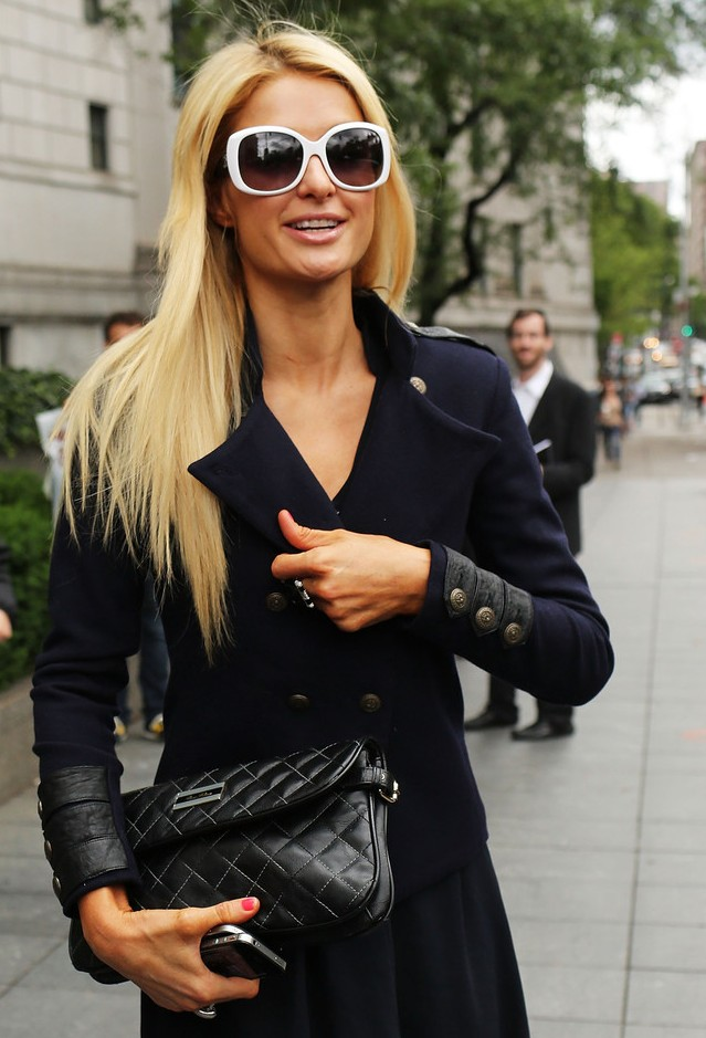 Paris Hilton Long Sleek Hairstyles 2012