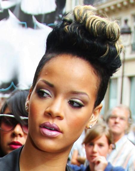 Rihanna Pompadour Haircut
