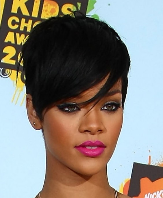 Rihanna Short Black Haircut | Hairstyles Weekly