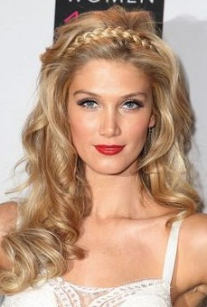 Romantic Braided Long Blonde Hairstyle for 2014