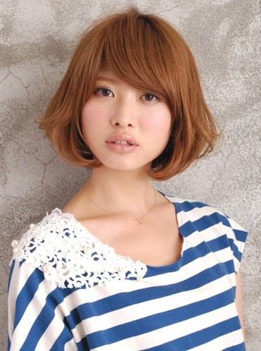 Short Brown Japanese Haircut