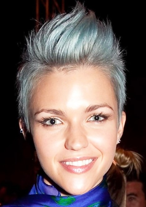 Celebrity Short Faux Hawk Hairstyle for women