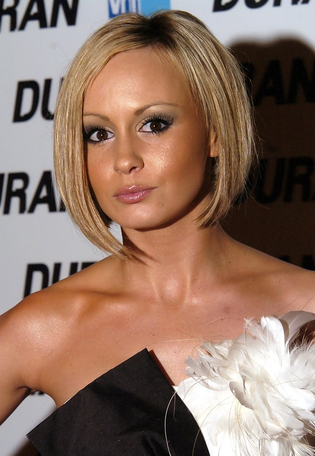 Celebrity Chanelle Hayes Short Inverted Bob Haircut